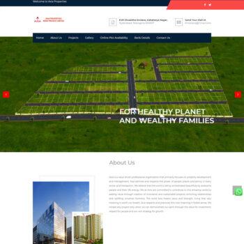 Axia Properties_Website Design